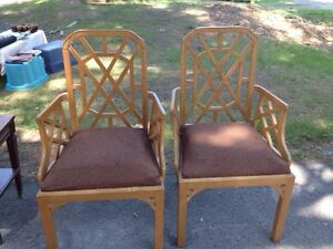 Pair of maple decorative chairs
