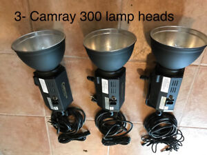 Camray studio light kit, 3 heads of flash lights