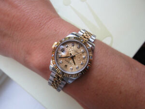 Rolex Stainless Steel and Yellow Gold Women's Watch