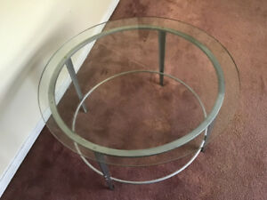 Round Patio Glass Table