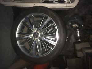 225/45R17 Toyo Proxes 4plus on aluminum rims