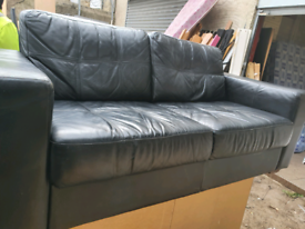 2 leather sofa . 3 seater and 2 seater. Delivery available extra cost
