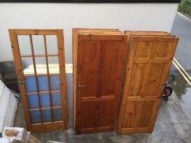 Solid pine wooden doors