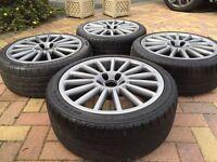 "18"" VW Caddy R32 Style MK5 GTi Alloy wheels Tyres Audi A3 Seat Leon Golf Passat Eos Jetta"