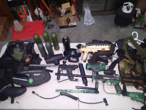Tons of paintball gear