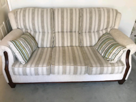 Eyres fabric sofa and chair excellent condition
