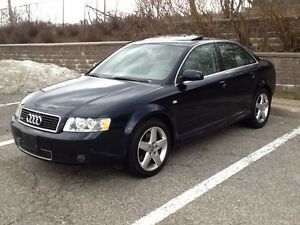 2004 AUDI A4 QUATTRO AWD**MINT CONDITION**FULLY CERTIFIED