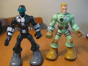 GI JOE TALKING TOUGH TROOPERS ACTION FIGURES snake eyes and duke