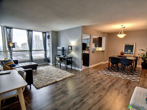 Spectacular! Fully updated 2 bdrm, 2 bath, steps from Square One