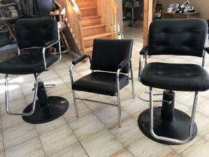 3 Hair Stylist Chairs