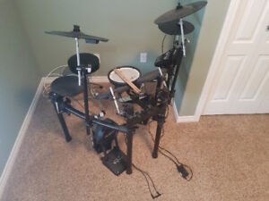 Rolland V-drum TD-11 KS drum set with double kick pedal for sale