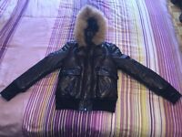 Mackage Annie Puffy down leather jacket small/petit
