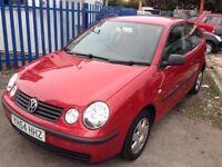 VW POLO 1896cc SDI TWIST DIESEL 3 DOOR HATCH 2004-54, RED