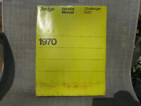 1970 Dodge Dart Challenger Service Manual Year One reprint