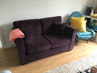 Two Seater Aubergine Sofa - Great Condition
