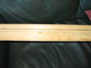 Clear pine four inch Colonial baseboard