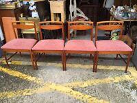 Gorgeous Mid Century MacIntosh Dining Chairs