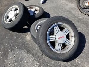 4 GMC Sonoma Chev s10 Alloy wheels with excellent tires