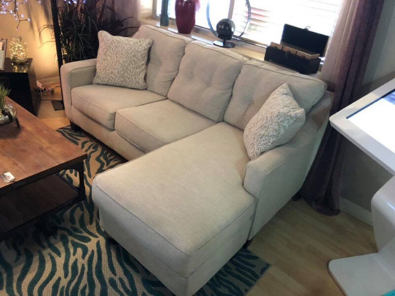 Aleyna Chaise Fabric Sofa That Is Reversible On Display Couches