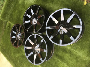 "20"" KMC Slide Rims 5x4.5"" 38mm offset"
