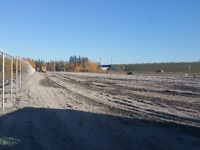 Fenced Storage Lot in Winterburn facing Anthony Henday w/ C-Can