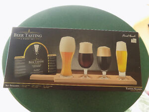 FINAL TOUCH 6 PIECE BEER TASTING SET- NEW IN PACKAGE$15 FIRM