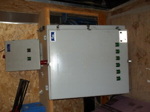 panel with relays and timers