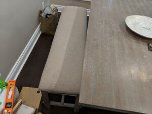Table, Bench and 4 chairs for sale
