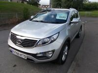Kia Sportage CRDI KX-2 ++LOW MILEAGE HIGH SPEC 4WD++ (silver) 2010