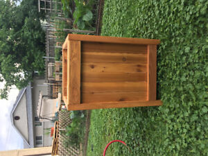 Cedar Planter (stained)