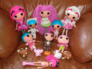 Lalaloopsy Dolls and Pets Lot