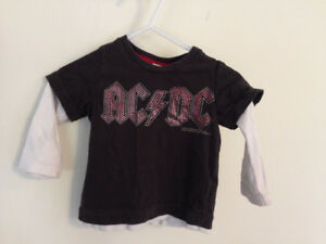 6-9 month H&M ACDC long sleeved shirt
