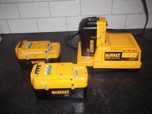 Dewalt 36V Batteries and Charger