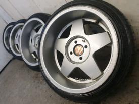 """16"""" krescher staggered alloy wheels vw golf Toyota honda 4 x 100"""