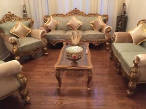 Royal, modern, hand carved, solid wood furniture up for SALE!