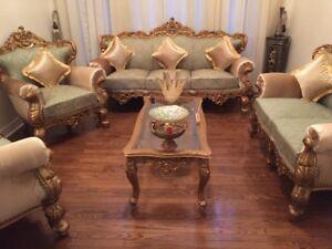 Royal, modern, hand carved, solid wood furniture up for SALE!