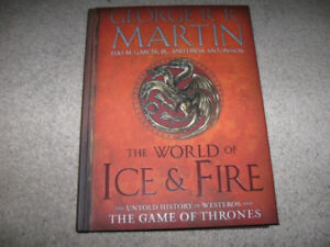 George R.R. Martin-World of Ice & Fire-Large hardcover book