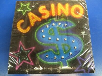 Casino Night Card Suits Jackpot Dice Poker Theme Party Paper Luncheon Napkins](Jackpot Casino Parties)