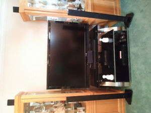 55 inch Sharp HD TV , Tv stand and SAMSUNG surrond sound