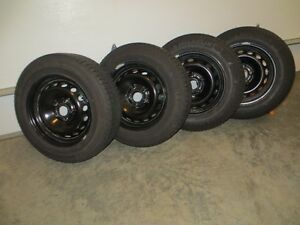195/65R15 Michelin X-ICE Xi3 Snow Tires and Rims