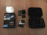 GoPro hero 4 silver with case and two batteries