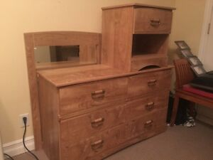 Dresser w/ mirror and 2 night stands