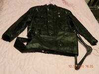 New Motorcycle Leather Jacket and Pants, size 46.