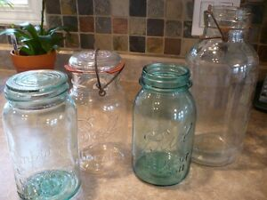 Beautiful lot of Glass Jars / Sealers / Canning Jars
