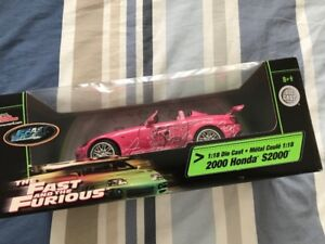 2000 Honda S2000 1:18 Die Cast Fast & the Furious Pretty in Pink