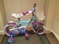 Girl 12 inch frozen bike