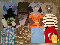 lot of fall-winter-spring clothes for boy size 3T/4T EUC