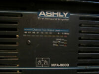 power amp ashley mfa-8000