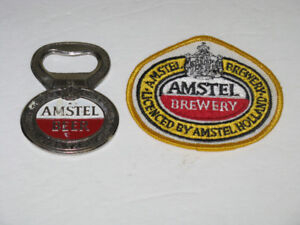 AMSTEL BREWERY OPENER AND PATCH