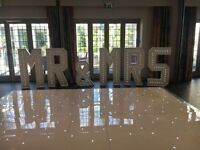 MR&MRS HIRE 4ft LOVE LETTERS INITIALS HIRE WEDDINGS PARTIES!